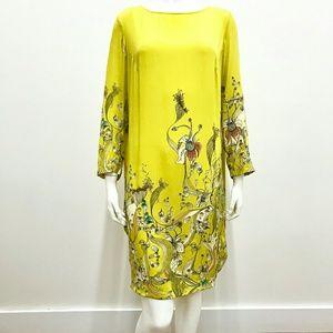 Anthropologie Floral Printed Long Sleeve Dress